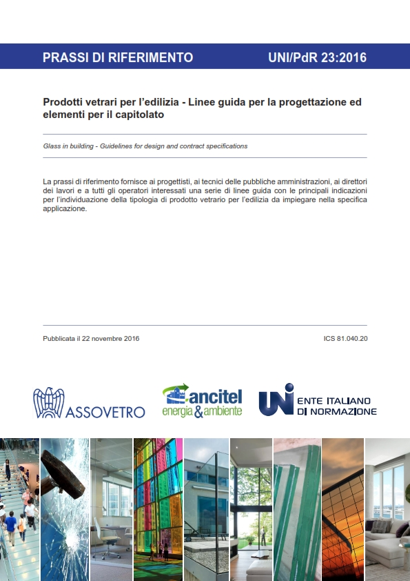 Prassi di riferimento uni pdr 23 2016 prodotti vetrari per for Programmi di progettazione
