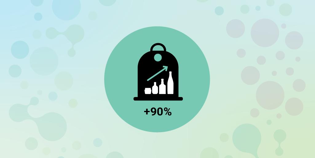 Obiettivo 90% di raccolta differenziata del vetro
